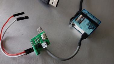 Power supply with relay