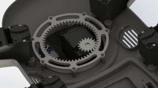 Internal head gear system